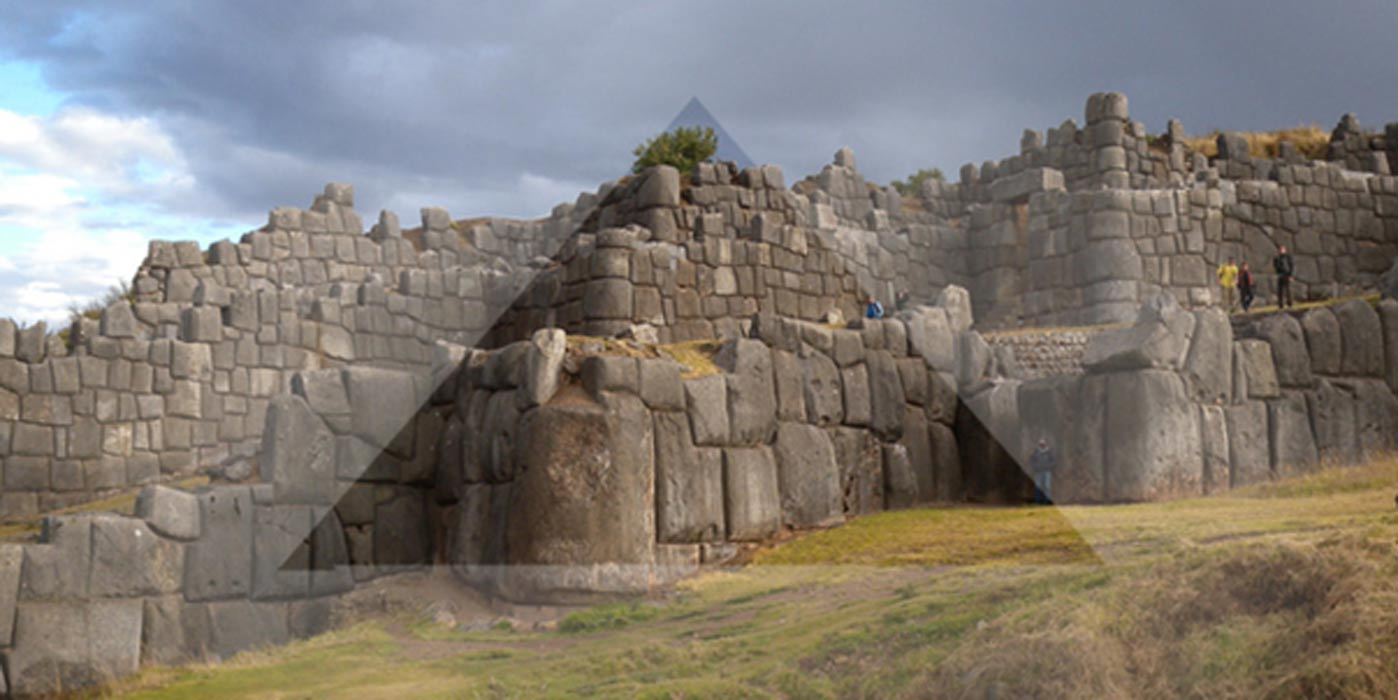 Ancient Sacred Sites Triangularly Aligned by the Footsteps of the Gods