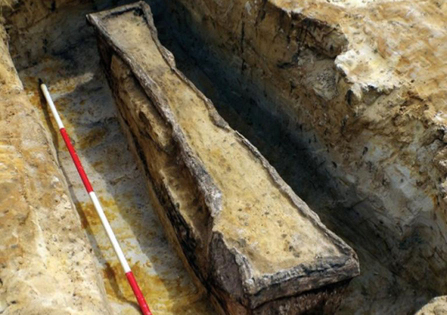 Two Roman lead coffins were recently discovered in a quarry in Surrey.