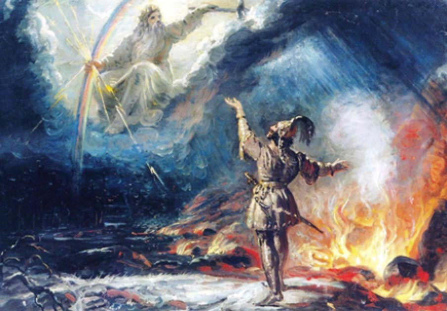 The Finnish sky god Ukko. Source: Risukarhi / Public Domain.
