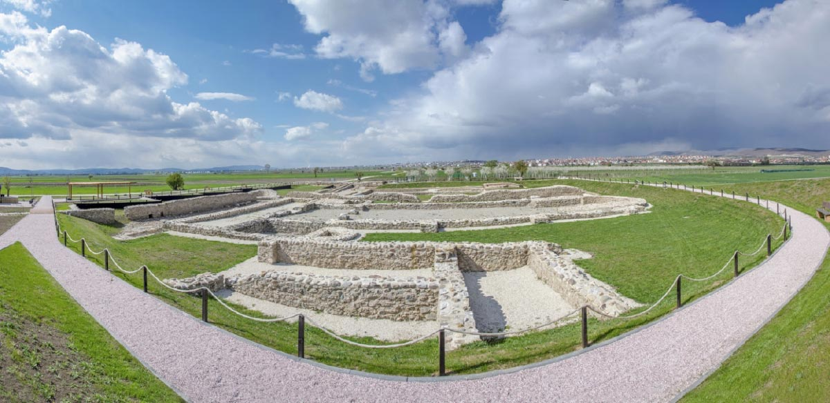 Ulpiana, the archaeological site in Kosovo.