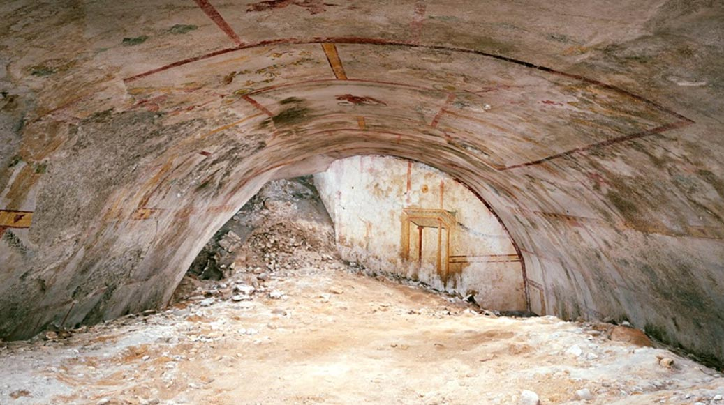 Underground  chamber at Nero's Palace dubbed 'Sphinx Room'
