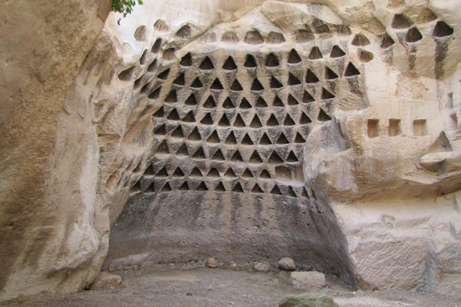 Hirbat Midras, in Adullam Grove Nature Reserve in Israel, part of what geologist Dr. Alexander Koltypin hypothesizes to be a massive complex of prehistoric underground structures stretching across the Mediterranean.