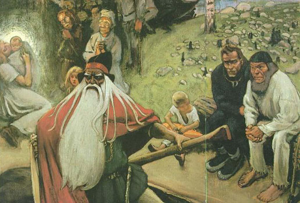 Akseli Gallen-Kallela: The Departure of Väinämöinen