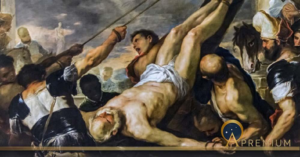 Crucifixion of Saint Peter by Luca Giordano, Gallerie dell'Accademia in Venice (circa 1660) (Public Domain)
