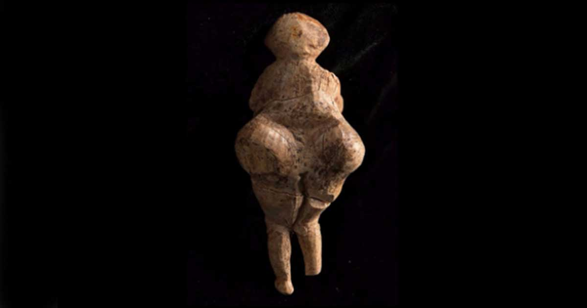Back view of the recently discovered 'Venus' figurine.