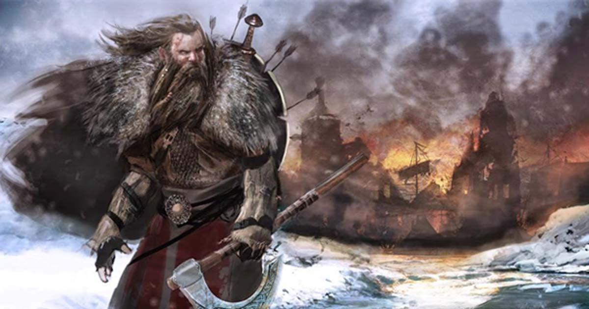 Viking warrior with an axe. Source: Lamin Illustration & Design