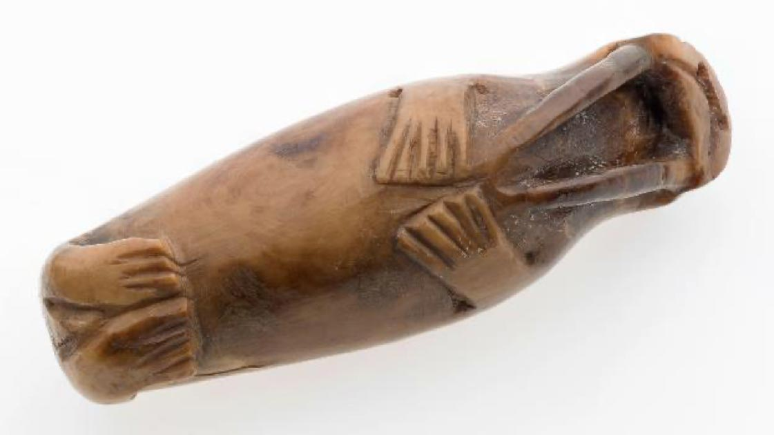 Walrus carving from medieval Trondheim. Viking colonies in Greenland relied on walrus ivory for trade. Source: Credit: Åge Hojem NTNU University Museum