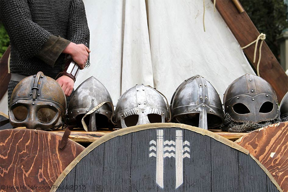 Viking helmets are special and few have been found but the Viking mercenary district warriors of Bathonea would have surely worn them as they fought for and protected the Byzantine emperor.Source: Helgi Halldórsson from Reykjavík, Iceland / CC BY-SA 2.0