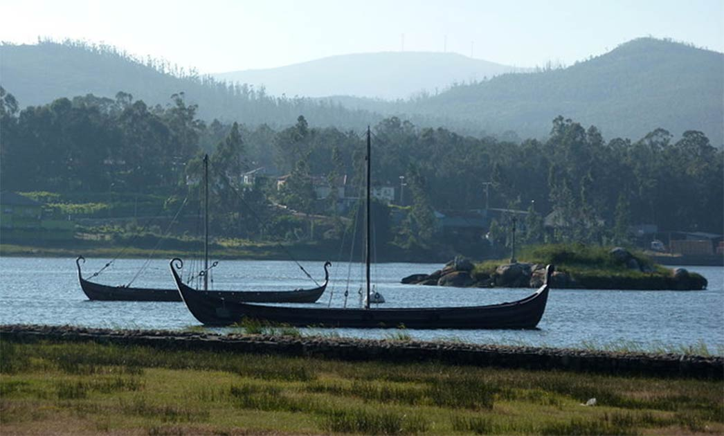 Viking longship replicas at Catoira, Galicia. Did the Vikings also make it to Madeira?  Source: CC BY-SA 4.0