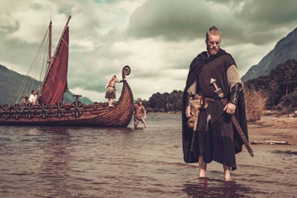 Vikings arriving in North America at the Newfoundland site. Source: Nejron Photo / Adobe Stock.