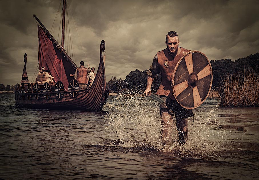 Representation of Vikings in South America. Source: Nejron Photo / Adobe stock