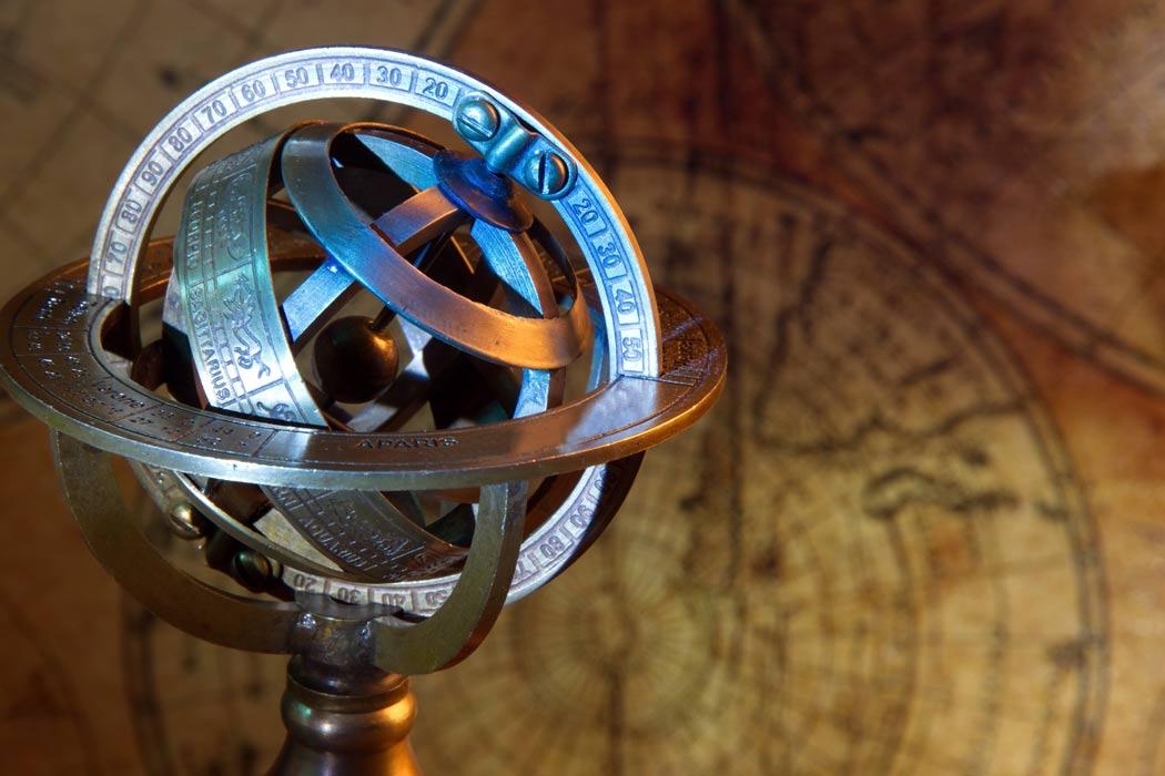 Vintage armillary sphere.