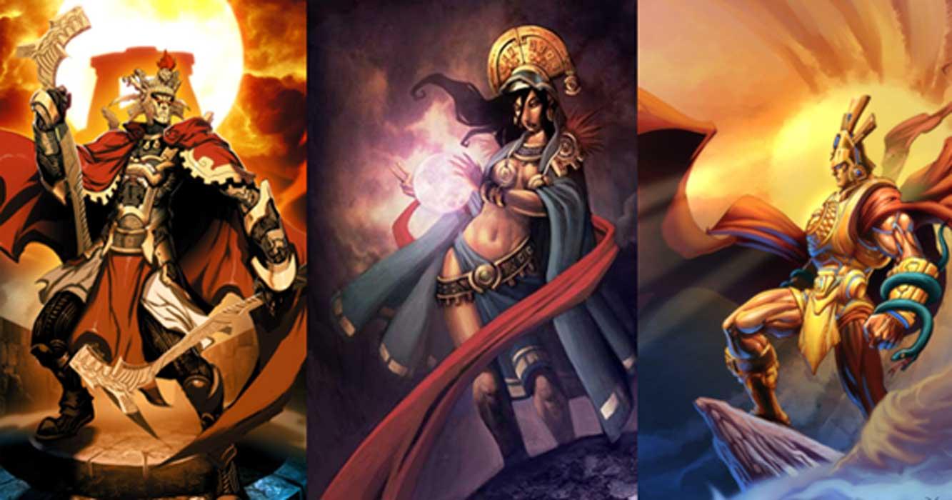 Viracocha (GENZOMAN /Deviant Art), Mama Killa, (GENZOMAN /Deviant Art) and Inti.