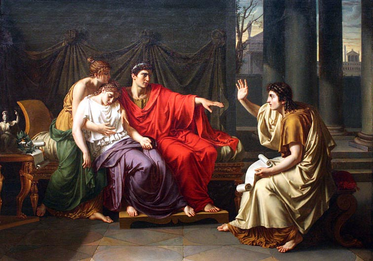 Virgil Reading the Aeneid to Augustus, Octavia, and Livia