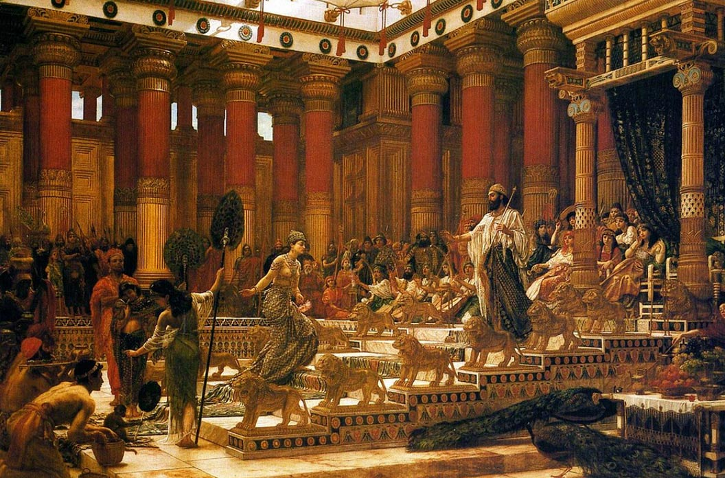 The Visit of the Queen of Sheba to King Solomon, painting by Edward Poynter, 1890, Art Gallery of New South Wales