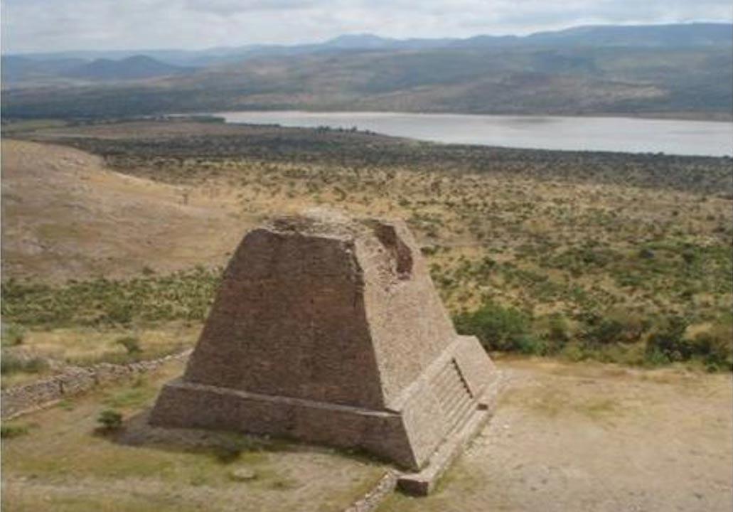 The Votive Pyramid of the archeological zone of La Quemada, Mexico