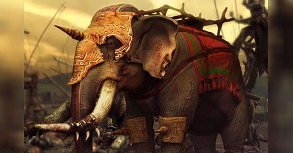 Indian war elephant, the 16th century --- (Has to be later