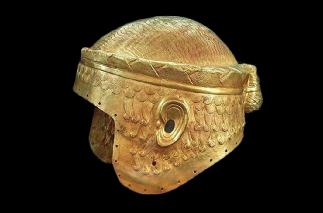 Image result for helmet ur burial