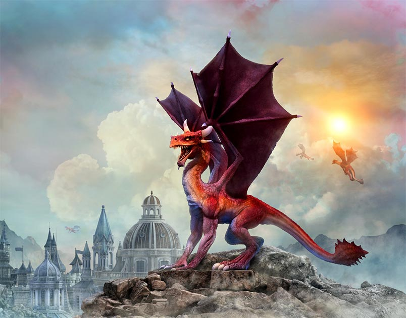 The legendary Welsh dragon. Credit: warpaintcobra / Adobe Stock