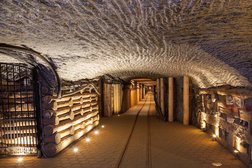 Inside the Wieliczka salt mine in Poland