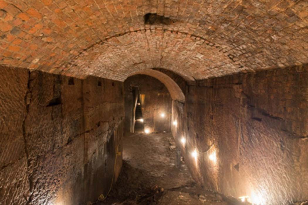 The 'banqueting hall' chamber beneath Joseph Williamson's house, excavated by Friends Of The Williamson's Tunnels. Credit: Friends of Williamson's Tunnels.