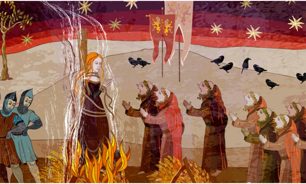 A witch burning at the stake, just like the three witches of Bochnia were executed for their heinous crimes.                 Source: Matrioshka / Adobe Stock