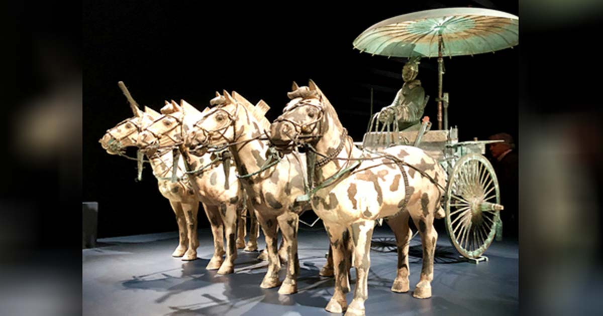 Bronze Chariot & Horses w/ Coachman ―Qin Dynasty, 221-206 BC