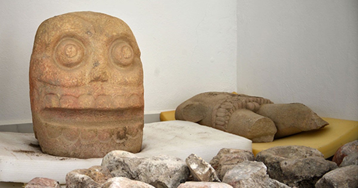 Head and torso of god Xipe Totec found at Ndachjian–Tehuacán archaeological site