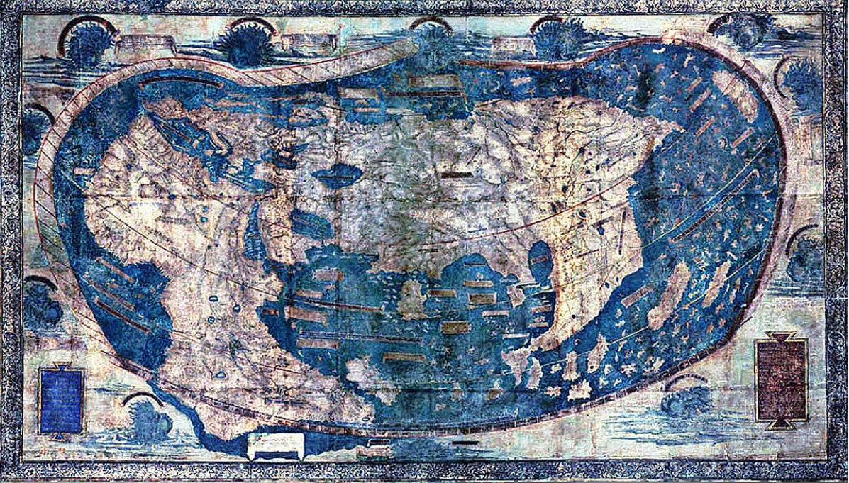 "The Yale world map of ""Henricus Martellus Germanus"" (Heinrich Hammer). It"