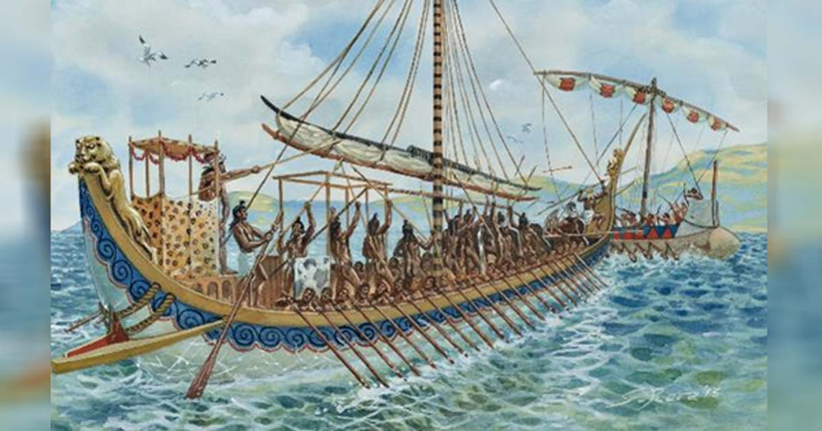 Illustration of a Minoan ship