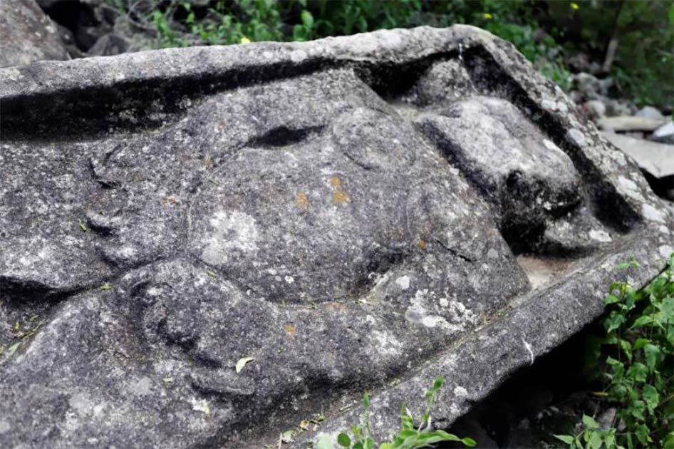 A monument found among the Zapotec ruins in south-west Mexico. Source: EFE