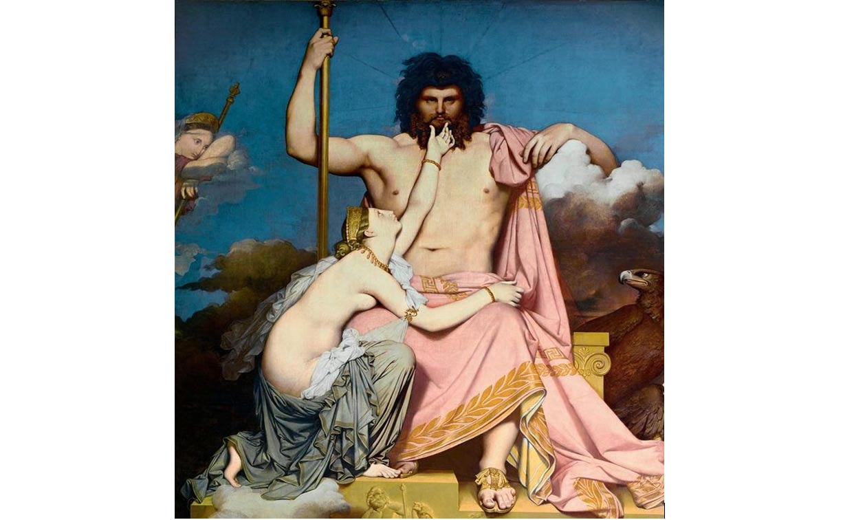 """Zeus and Thetis"" Painting by John Duncan, 1811."
