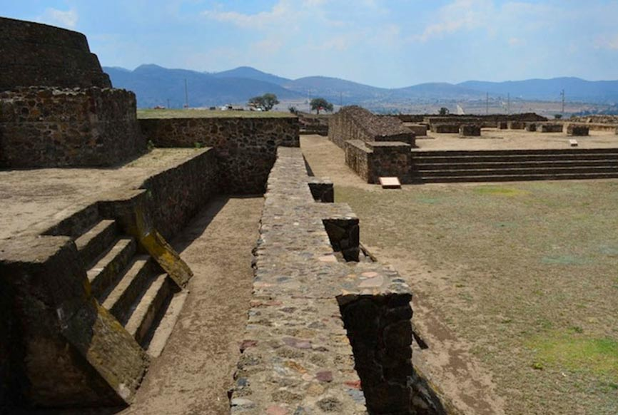 Zultepec-Tecoaque archaeological site in Tlaxcala, Mexico