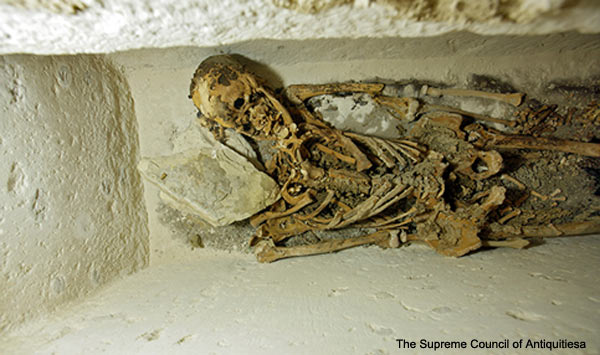 4,400 years old Skeleton in Abusir - Egypt