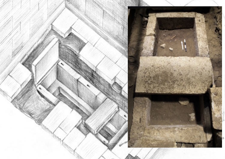 Skeleton found inside Limestone Sarcophagus in Amphipolis Tomb