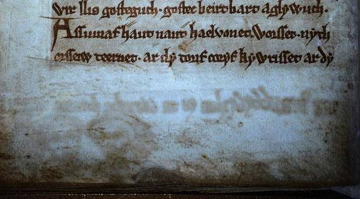 Ancient book of Arthurian stories