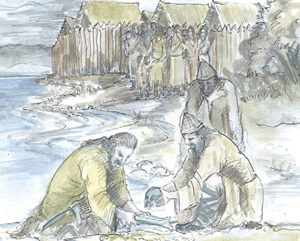 Ancient child skulls  gifts for Bronze Age lake gods