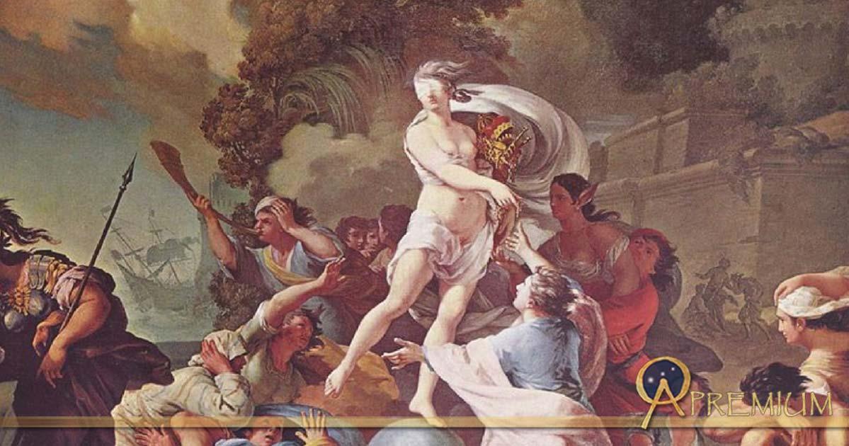 """""""Goddess of Luck"""" Blind Fortuna by Tadeusz Kuntze (1754)"""