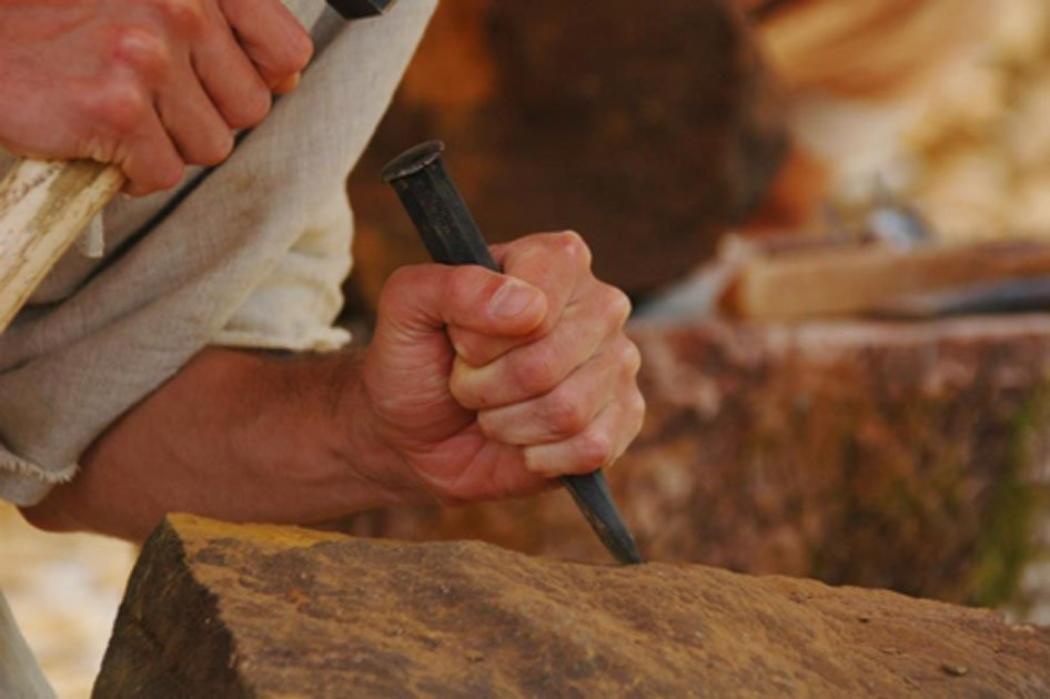 "Are Shamir and Pito the answer to how people performed ancient stonework? Are they the ""green chisel"" gifted from the gods?          Source: Anjocreatif / Adobe."