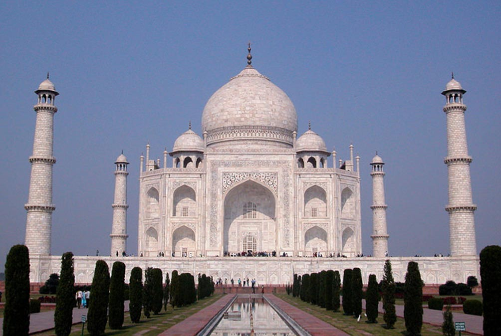 The beautiful monument, Taj Mahal.