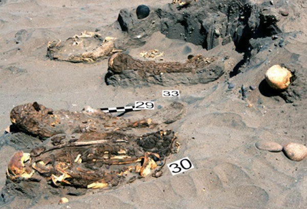 Burial site at Peru