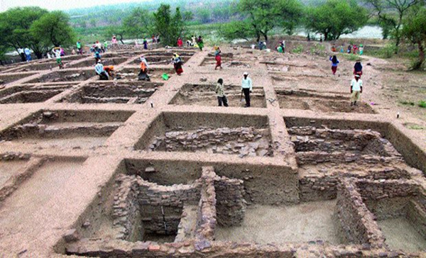 Burnt Ancient City in India
