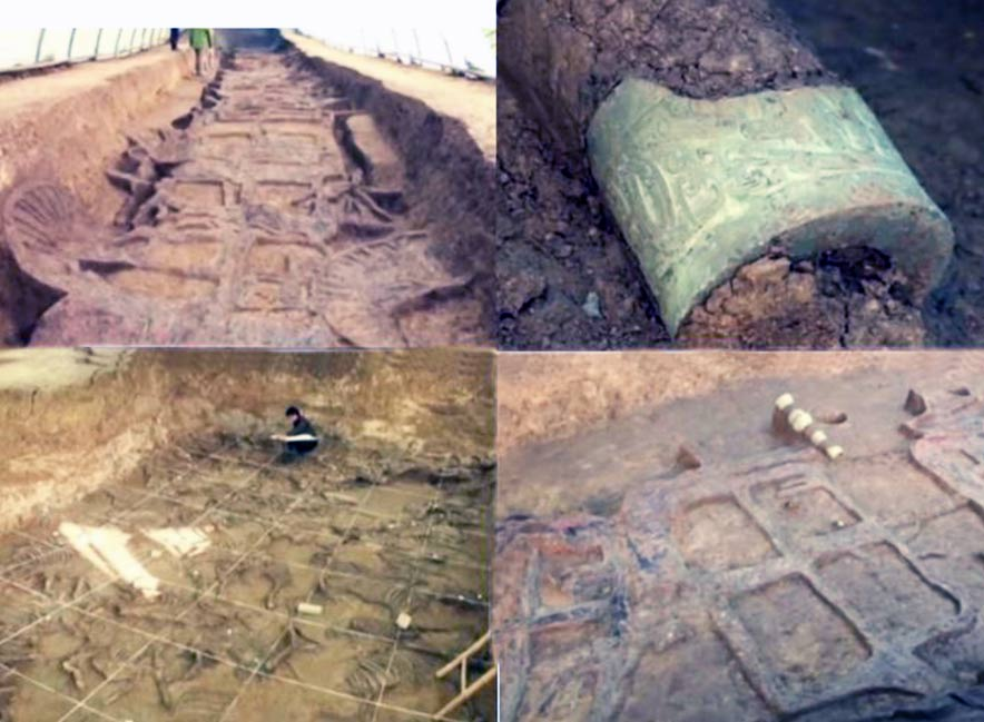 2,800-year old tombs surrounded by 28 chariots and 98 horses in China