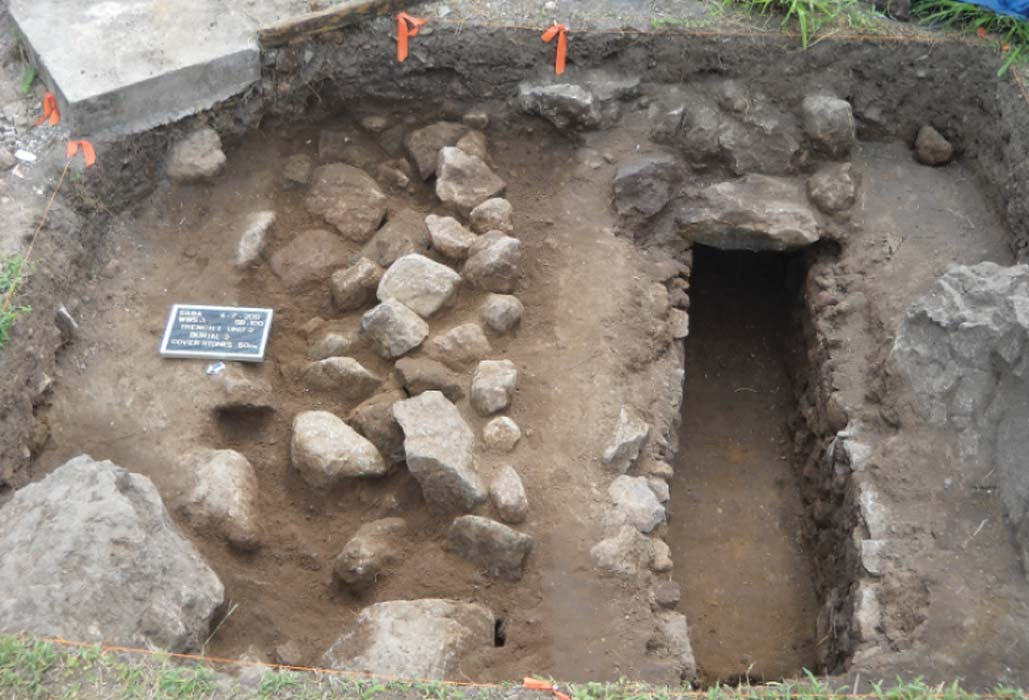 Stone cist graves on Saba represent the burial practices of British settlers. Source: J Haviser/ Antiquity Publications Ltd