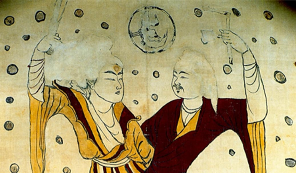 Fuxi and Nuwa are responsible for creation of humanity in Chinese mythology. Source: Stout256 / Public Domain.