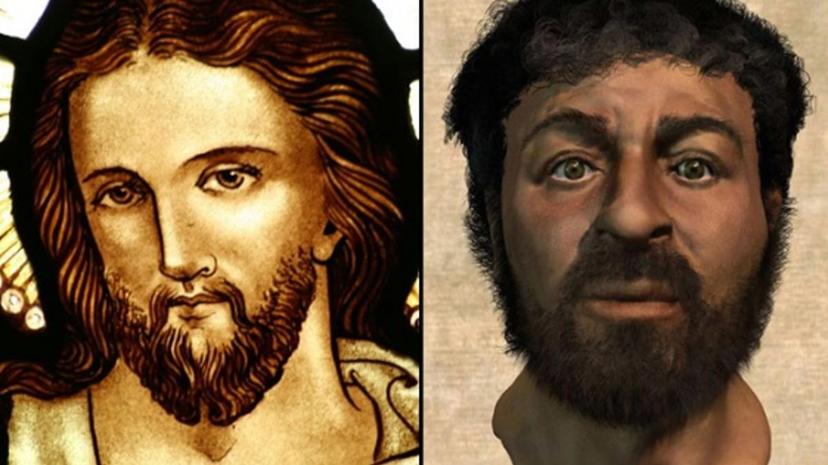 Two varying depictions of the same figure, Jesus. (Deriv)