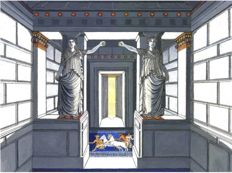 Design of the Amphipolis tomb and the magnificent sculptures