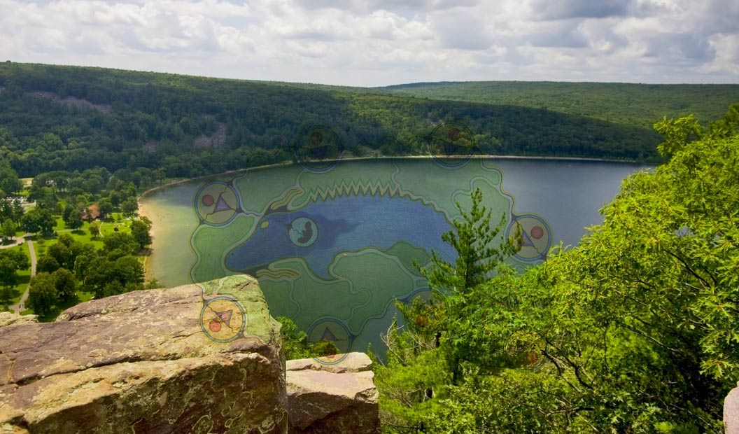 Devil's Lake State Park, Baraboo area - Manitu spirit graphic
