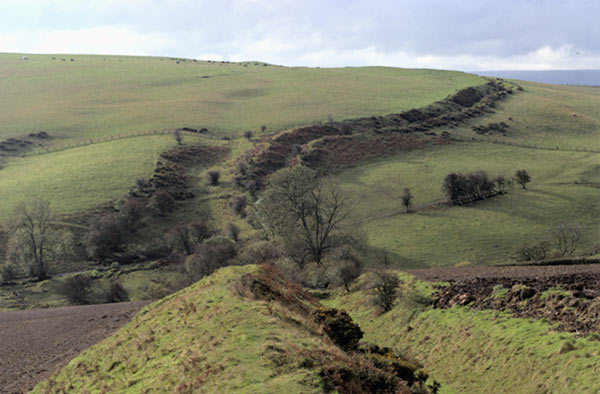 Ancient earthwork bordering England and Wales