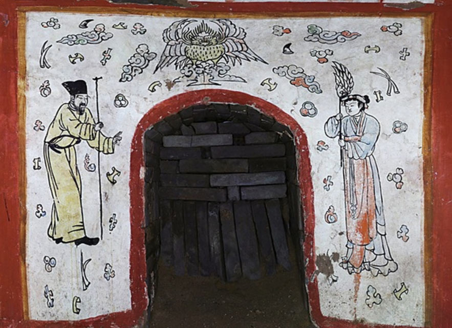 The entrance to the tomb found in Datong, China